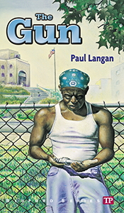 the gun by paul langan You know if you read about the gun, you're going to be shocked, get confused in some parts but the end is very surprising the book is about a kid named tyray hobbs is a bully at bluford high.
